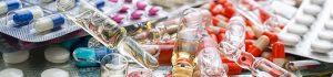 Drug ampules, pills. Defective drugs, medical devices and medical malpractice lawsuits Atlanta, GA.