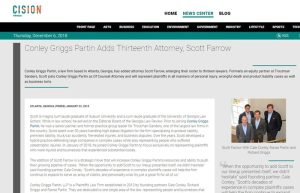 Screenshot of press release 'Atlanta Attorney Davis Popper Joins AIEG Young Lawyers Committee'